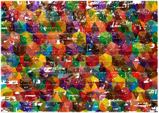 Abstract grunge cube background Royalty Free Stock Photo