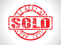 abstract grunge czerwień sprzedającego znaczek Zdjęcie Royalty Free