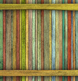Grunge 3d render colored wood timber plank backdrop Royalty Free Stock Photos