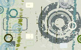 Abstract grunge design. Decorative abstract grunge design with circles Stock Images
