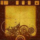 Abstract grunge design. Decorative abstract grunge design with circles Royalty Free Stock Photography
