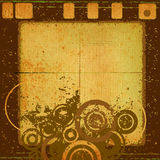 Abstract grunge design. Decorative abstract grunge design with circles Stock Photography