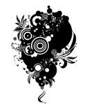 Abstract grunge design. Black and white floral ornament Stock Photography