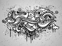 Abstract grunge drawing Stock Photos