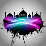 Abstract grunge Eid Mubarak background Royalty Free Stock Images
