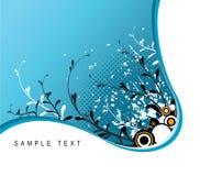 Abstract grunge floral back stock illustration