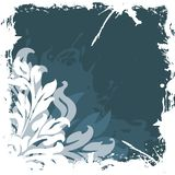 Abstract grunge floral background  Royalty Free Stock Images