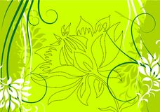 Abstract grunge floral decorative background vector illustration royalty free stock images