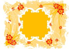Abstract Grunge Floral Frame Royalty Free Stock Photography