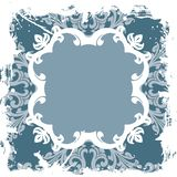 Abstract Grunge Floral Frame Royalty Free Stock Images