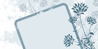 Abstract Grunge Floral Frame Stock Images