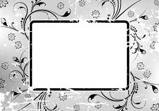 Abstract Grunge Floral Frame Stock Image