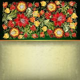 Abstract grunge floral ornament Stock Photos