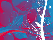 Abstract grunge flower backgro. Und Illustration Royalty Free Stock Image