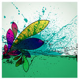 Abstract grunge flower background design Stock Photo