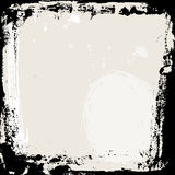 Abstract grunge frame. Black and beige Background template. Vector Royalty Free Stock Photos