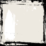 Abstract grunge frame. Black and beige Background template. Vector Royalty Free Stock Photography