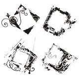 Abstract grunge frames royalty free illustration