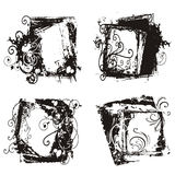 Abstract grunge frames stock illustration