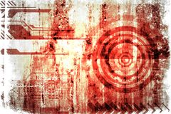 Abstract grunge futuristic cyber technology background. Sci-fi circuit design. Drawing on old grungy surface royalty free illustration