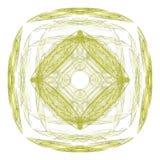 Abstract grunge geel geïsoleerd bloemenpatroon royalty-vrije illustratie
