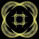 Abstract grunge geel patroon vector illustratie