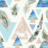 Abstract grunge geometrisch naadloos patroon Royalty-vrije Stock Foto