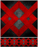Abstract grunge gerecycleerd document ambachtmozaïek backgr Stock Foto's