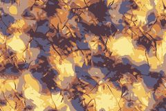 Abstract grunge gold and blue patterns illustrating sunlight in winter vector illustration