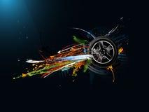 Abstract grunge graffiti background vector illustration