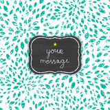 Abstract grunge green chalk bursts blackboard Royalty Free Stock Images