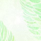 Abstract grunge green floral background left Royalty Free Stock Photo