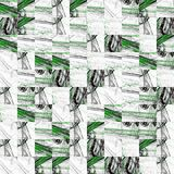 Abstract grunge green texture fractal patterns Royalty Free Stock Images