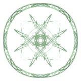 Abstract grunge groen geïsoleerd bloemenpatroon vector illustratie
