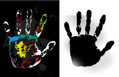 Abstract grunge hand style. Vector art Stock Photography