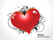 Abstract grunge heart Stock Photo