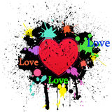 Abstract grunge heart Royalty Free Stock Photos