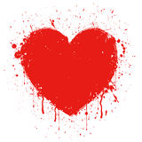 Abstract grunge heart Royalty Free Stock Images