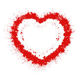 Abstract grunge heart Stock Image