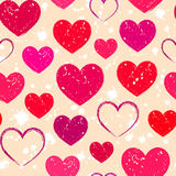 Abstract grunge hearts Royalty Free Stock Photography