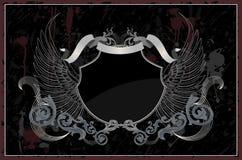 Abstract grunge heraldisch schild royalty-vrije illustratie