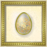 Abstract illustration with easter egg Royalty Free Stock Images
