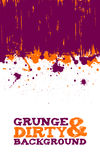 Abstract grunge ink splats background Stock Photos