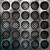Abstract grunge iron surface with circles Royalty Free Stock Photos