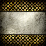 Abstract grunge iron surface with circles Stock Photography