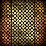 Abstract grunge iron surface with circles Stock Images