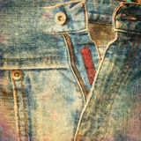 Abstract grunge jeans background Stock Photography