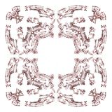 Abstract grunge maroon isolated pattern Royalty Free Stock Photo