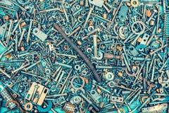 Abstract grunge metallic background Royalty Free Stock Image