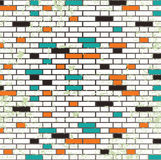 Abstract grunge mosaic tiles raster Stock Images
